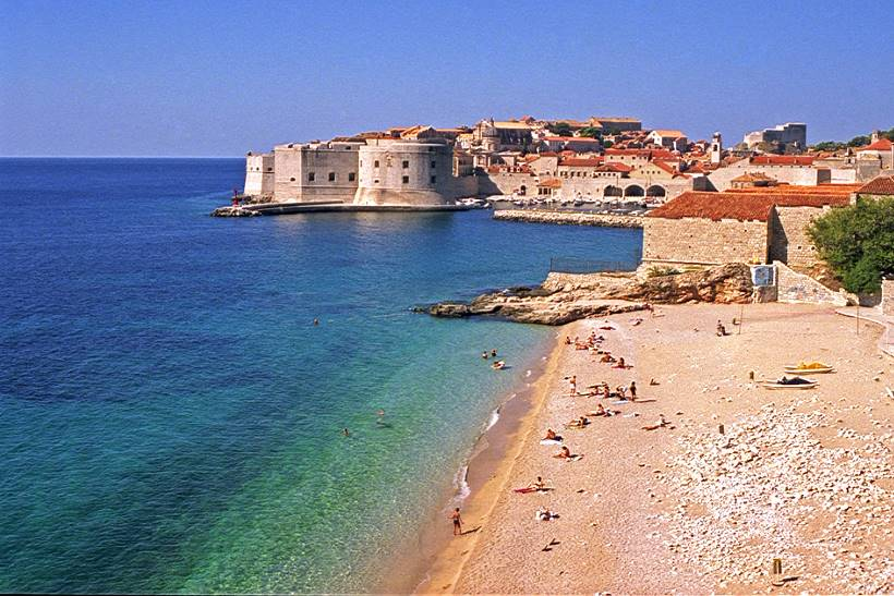 BANJE BEACH: The most famous of Dubrovnik's beaches